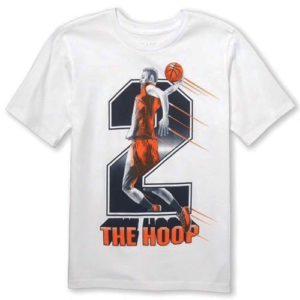 The hoop T-shirt wight children place