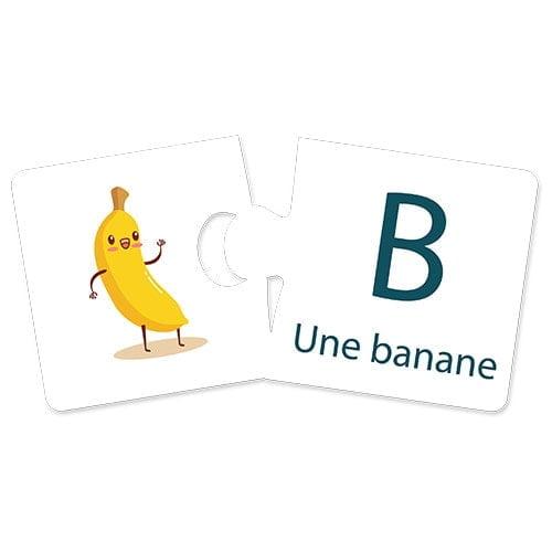 بازل تطابق وتعلم الأبجدية الفرنسية – 26 مجموعة لتصحيح الذاتي – فلافي بير