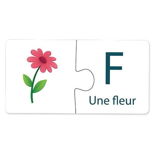 match & learn – alphabet français 26 self correcting puzzle sets – fluffy bear