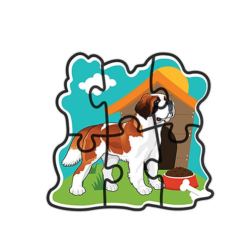 early dogs 5 puzzle sets – fluffy bear