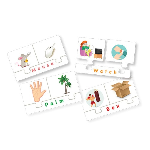 Match & Learn – Homonyms 18 Self Correcting Puzzle Sets - Fluffy Bear