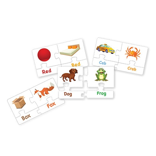 match & learn – rhyming words 18 self correcting puzzle sets – fluffy bear