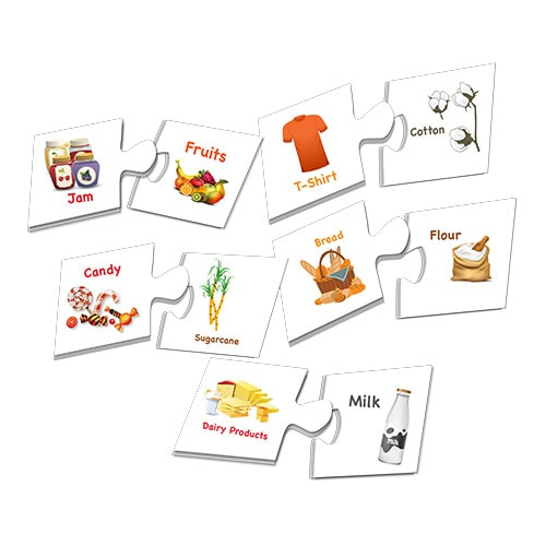 match & learn – what's made of 20 self correcting puzzle sets – fluffy bear