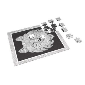 Fox – Coloring Puzzle 60 pieces - Fluffy Bear