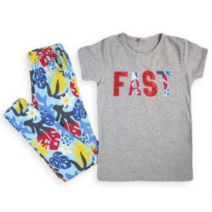 Fast Girls Pajama Grey