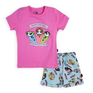 Girls Pajama Fuchsia Leo