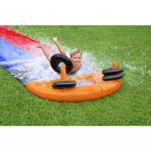 H2OGO Splashy Speedway Slide 4.88m Bestway