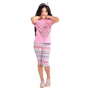 Heart Pajama Pink Banana