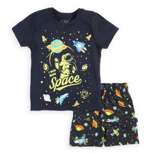 Space Pajama Black Leo