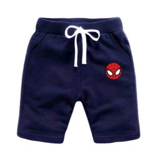 Spider Man Short Blue Black Indigo
