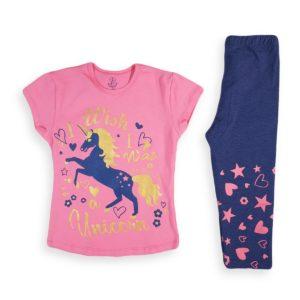 الحصان بيجامة بينك كاتي بيجامة صيفية ناعمة تعد الاختيار الأفضل لطفلك تتميز برسومات رائعة من شخصيتك المفضلة 100٪ قطن