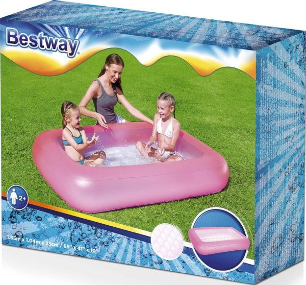 square inflatable swimming pool with inflatable floor 165 * 104 * 25cm