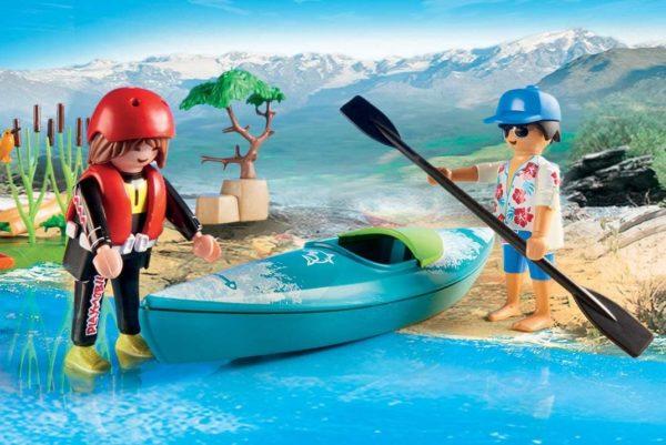 starter pack kayak adventure playmobil