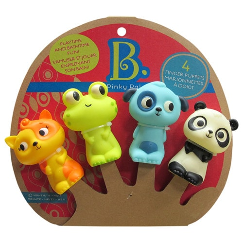 Land of B. 4 Animal Finger Puppets - Pinky Pals