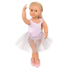 18 Ballerina Doll with Movable Joints & Music Box Stand - Erin Our Generation