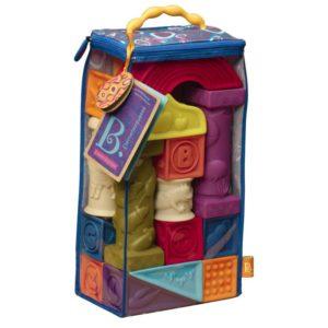 Battat Elemenosqueeze Rubber Blocks B.toys