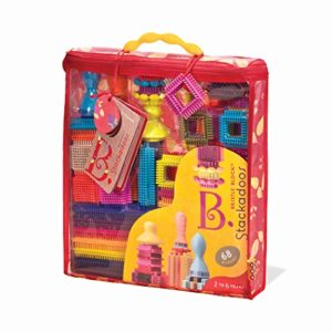 Bristle Blocks Stackadoos 68 Toy Blocks in a Storage Pouch B . toys