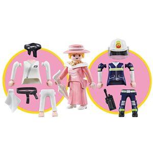 Interchangeable Girl Dress Fire fighter or Karate Playmobil