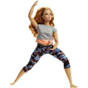 Made to Move Dolls with 22 Joints and Yoga Clothes, Floral, Pleach Barbie