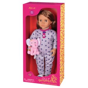 Maria Doll with Onesie And Elephant Plush Toy Our Generation