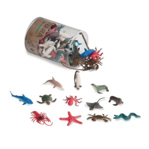 Sea Animals Toy in a Tube, 60 pcs Terra