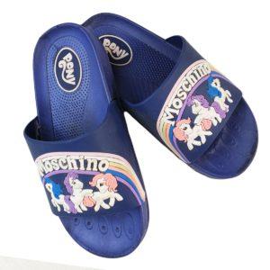 Unicorn Kids Slipper Blue Black