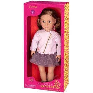 Vienna Doll With Pink Leather Jacket Our Generation