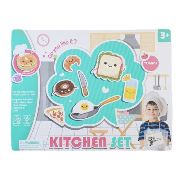 لعبة المطبخ مع أدوات الشيف للاطفال