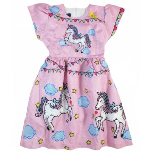 Marz Unicorn Dress Pink