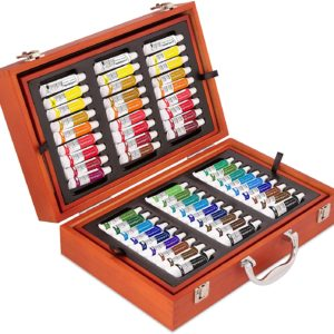 117pc Painting Set with Pencils and Pastels – Wooden Art Case Craftabelle