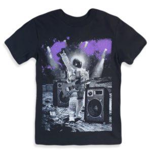 astronaut T-shirt black children place