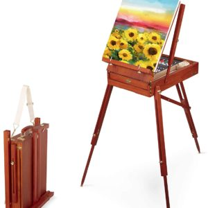 34pc Set with Paint Supplies – Wooden Italian Easel Craftabelle