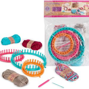 Beginner Knitting Kit – 9pc Weaving Set with Circular Loom and Accessories Craftabelle