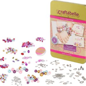 Bracelet Making Kit – 492pc Jewelry Set with Crystal and Pearl Beads Craftabelle