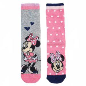 Disney Minnie Mouse Socks Pink 2 Pieces