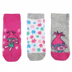 Disney Trolls Socks Fuchsia 3 Pieces