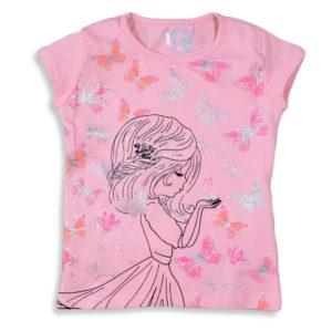 IQ Butterflies Girl Shirt Pink