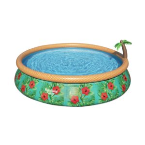 Inflatable Wooded Swimming Pool 4.57m 84cm + Filter