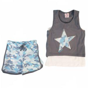 Unicorn Star Pajama Grey