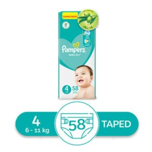 Pampers Baby Dry Size 4 Maxi 10-18Kg 58 Diapers