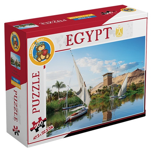 River Nile puzzle - 300  Pieces Fluffy Bear