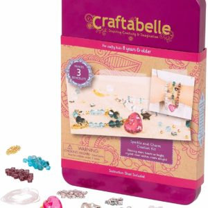 Bracelet Making Kit – 141pc Jewelry Set with Crystal Beads Craftabelle