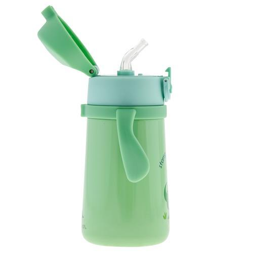 Stephen Joseph Double Wall Stainless Steel Bottle With Handle Dinosaur
