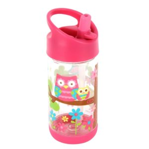 Stephen Joseph Flip Top Water Bottle Owl