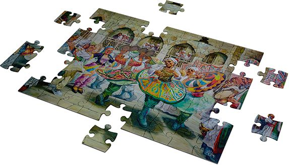 tanoura dance puzzle - 1000 Pieces Fluffy Bear