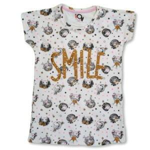 IQ Smile Girls Shirt Off White