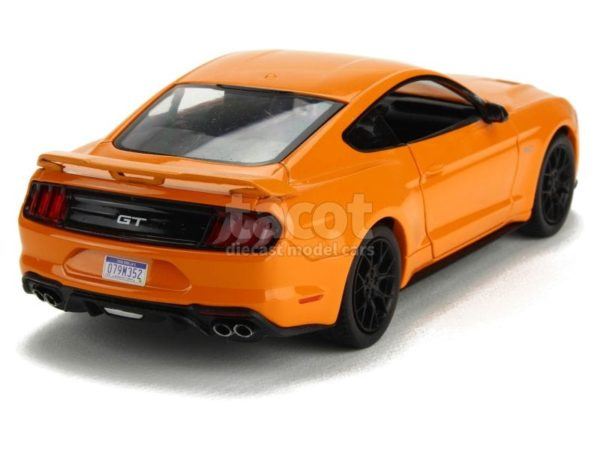2018 Ford Mustang GT Orange With Black Wheels