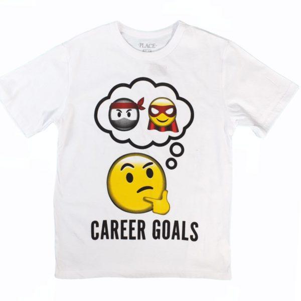 Carer goal  T-shirt wight children place