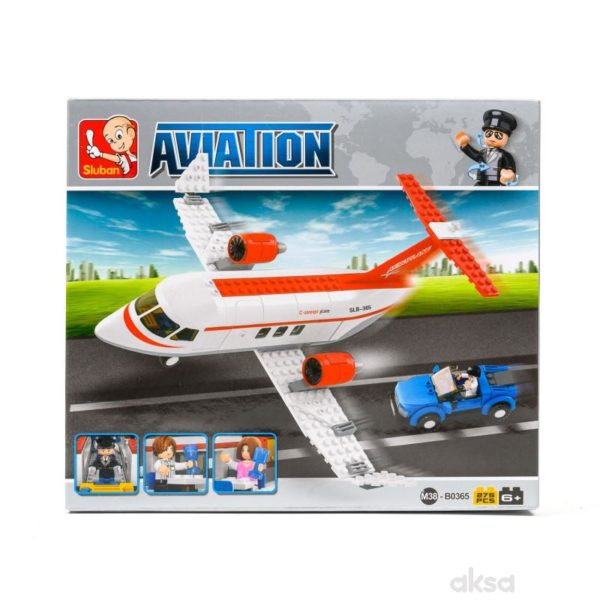 Aviation C Concept Plane , 275 Pieces  Sluban