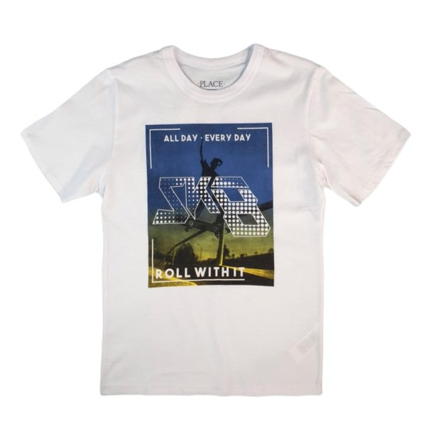 All day T-shirt wight children place